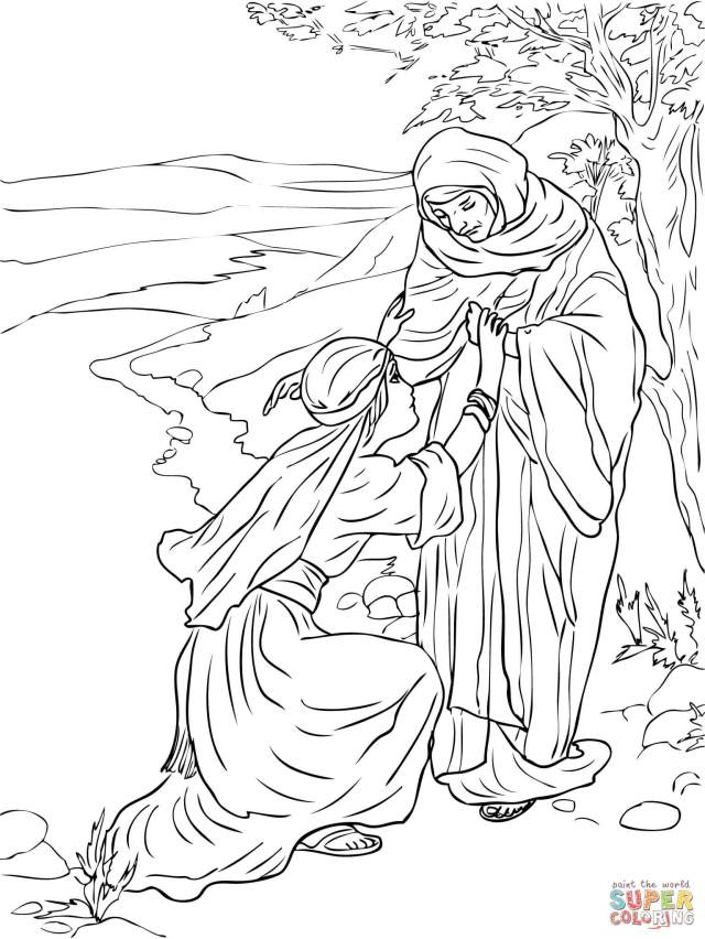 Ruth and Naomi coloring page  Free Printable Coloring Pages