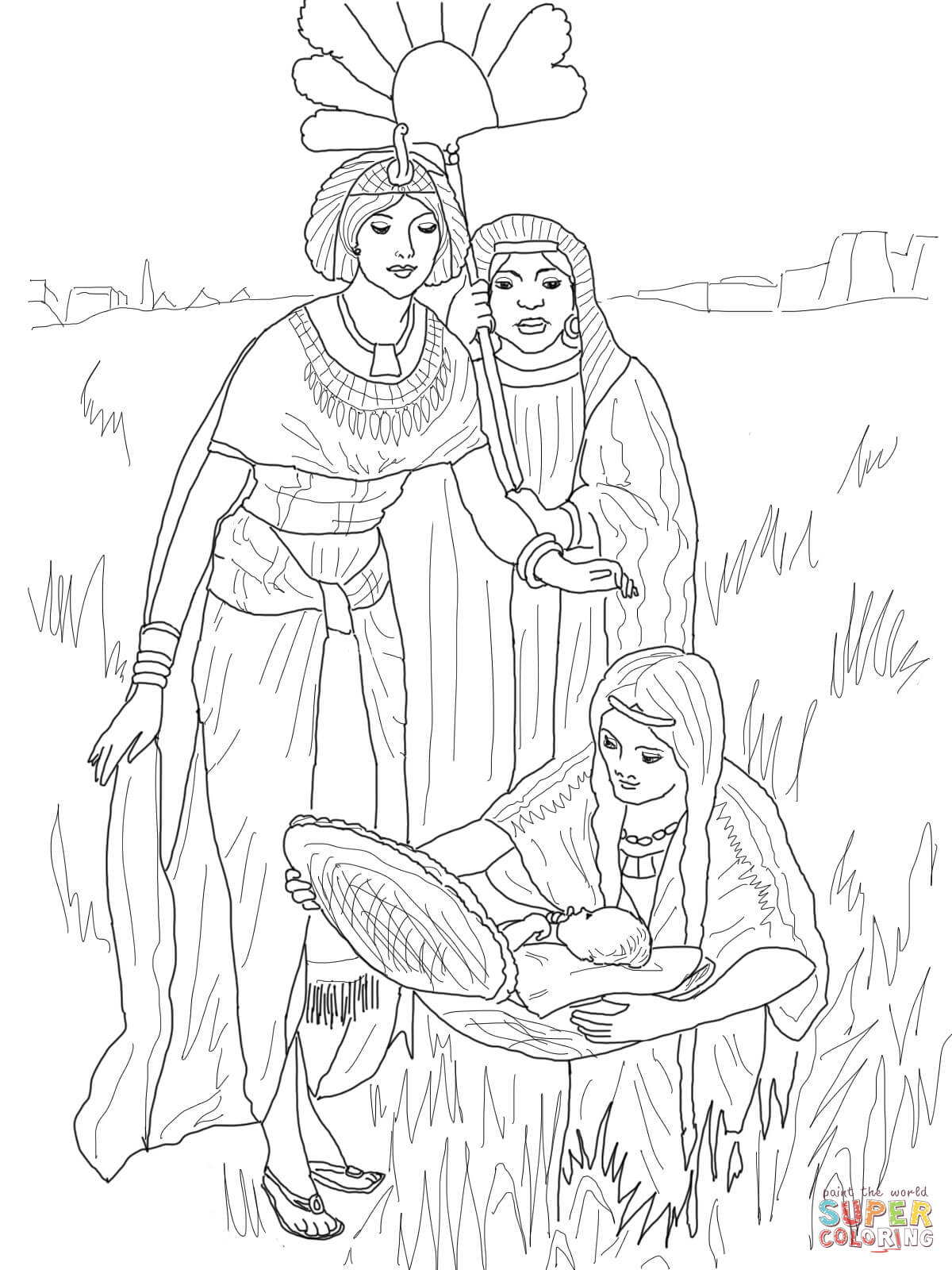 The Finding Of Baby Moses Coloring Page