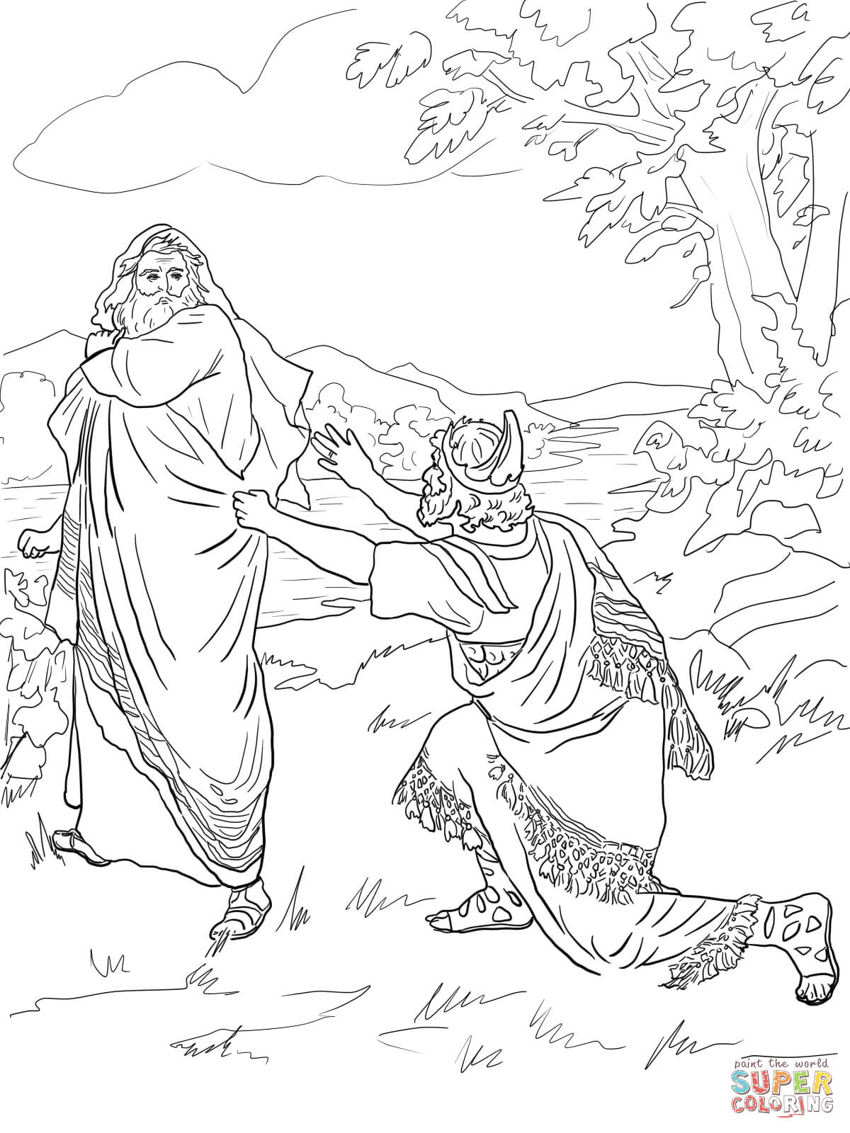 Saul Rejected As King Coloring Page