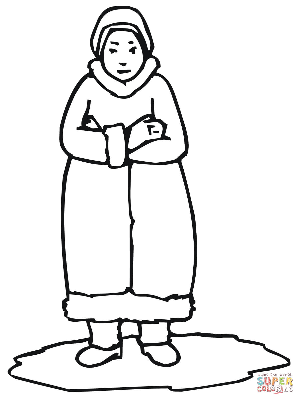 Inuit Woman Coloring Page
