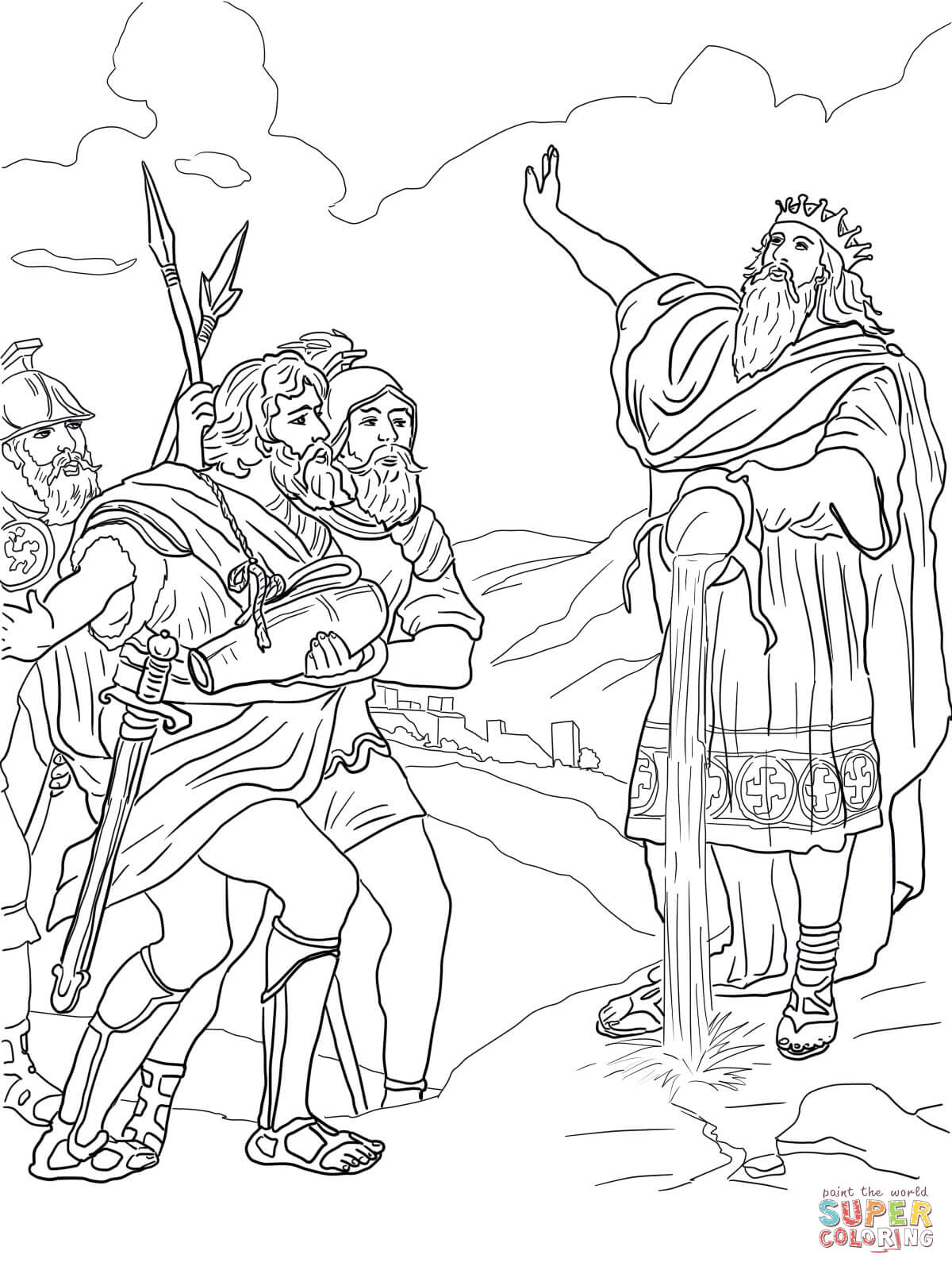David And His Mighty Men Coloring Page