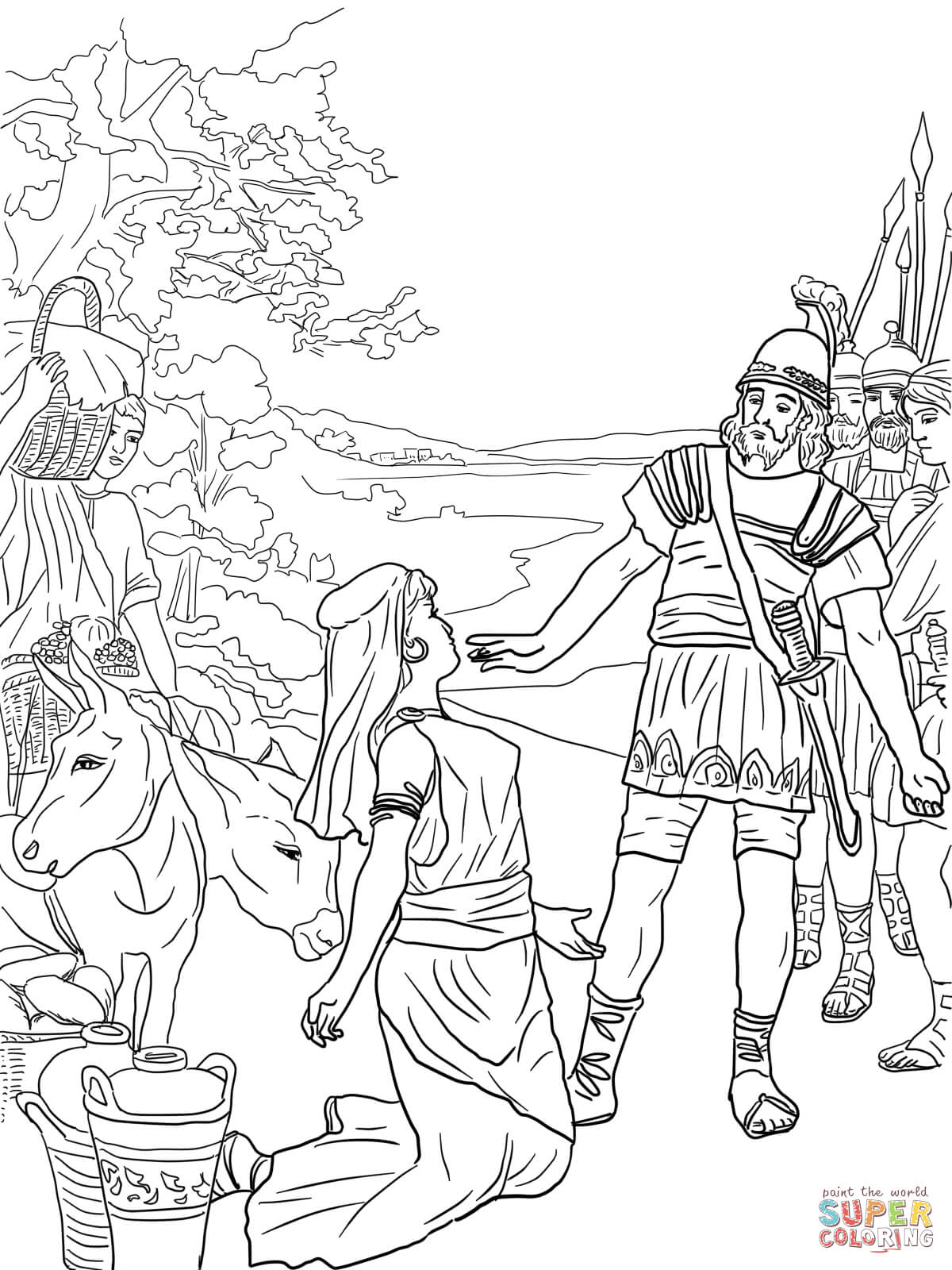 Saul Tries To Kill David Coloring Pages Printable Coloring