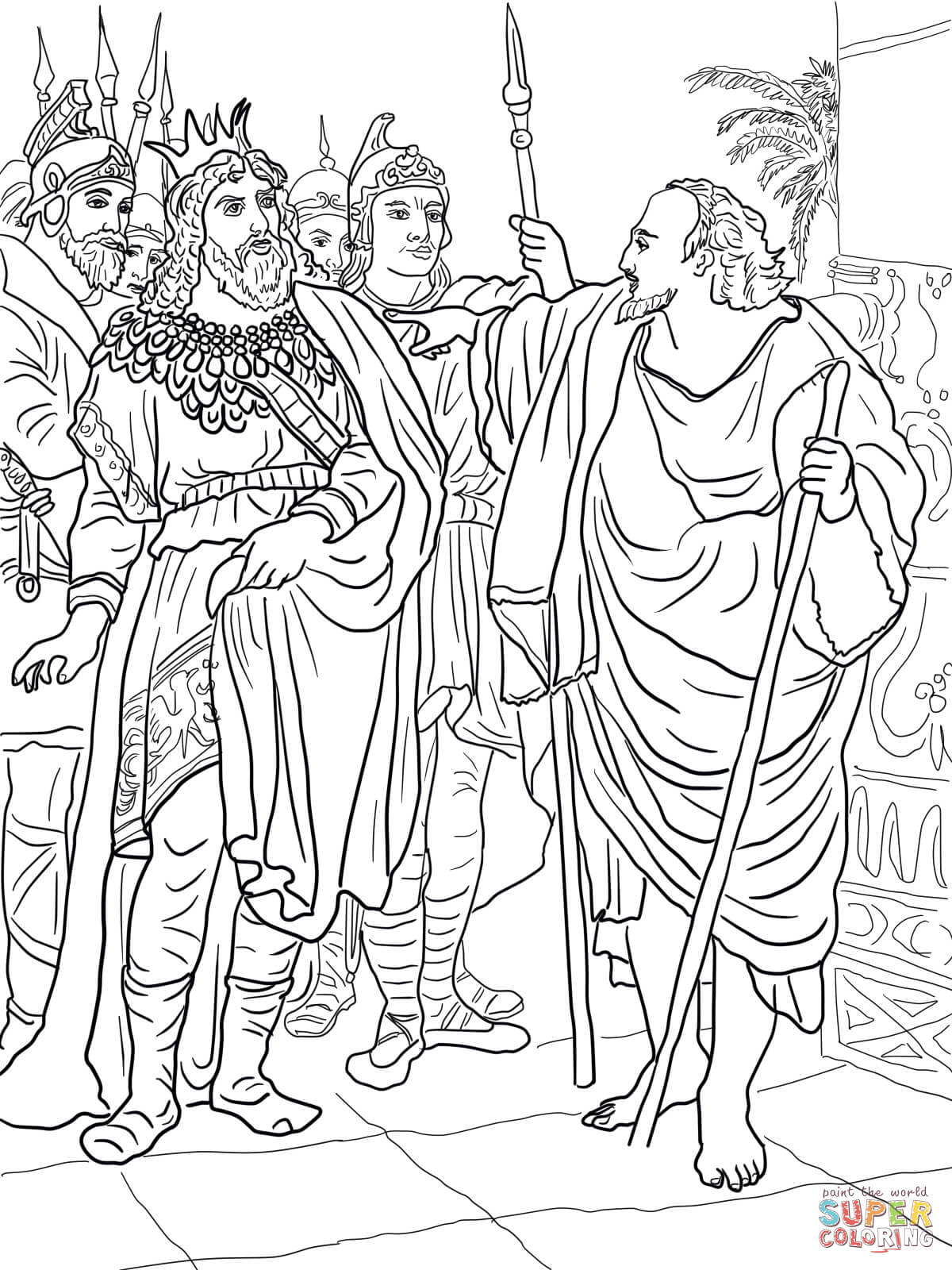 Elijah And King Ahab Coloring Page