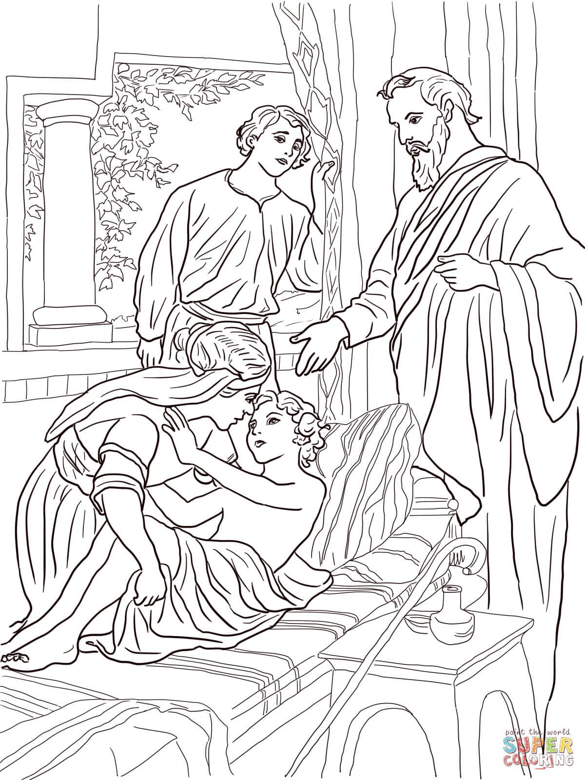 Elisha Bible Story Coloring Pages Coloring Pages