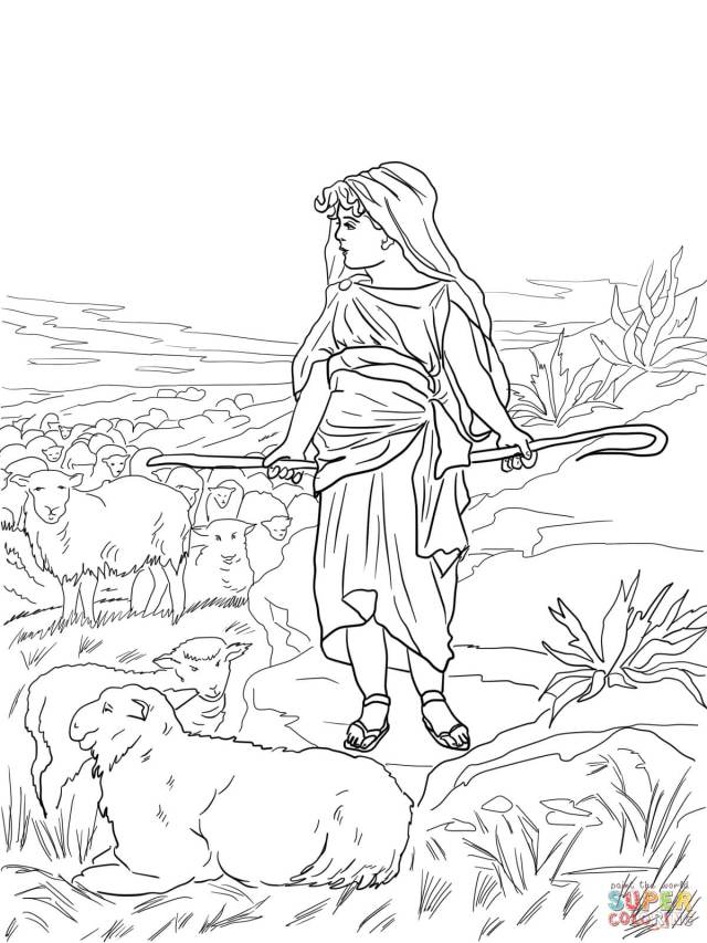 David the Shepherd Boy coloring page  Free Printable Coloring Pages
