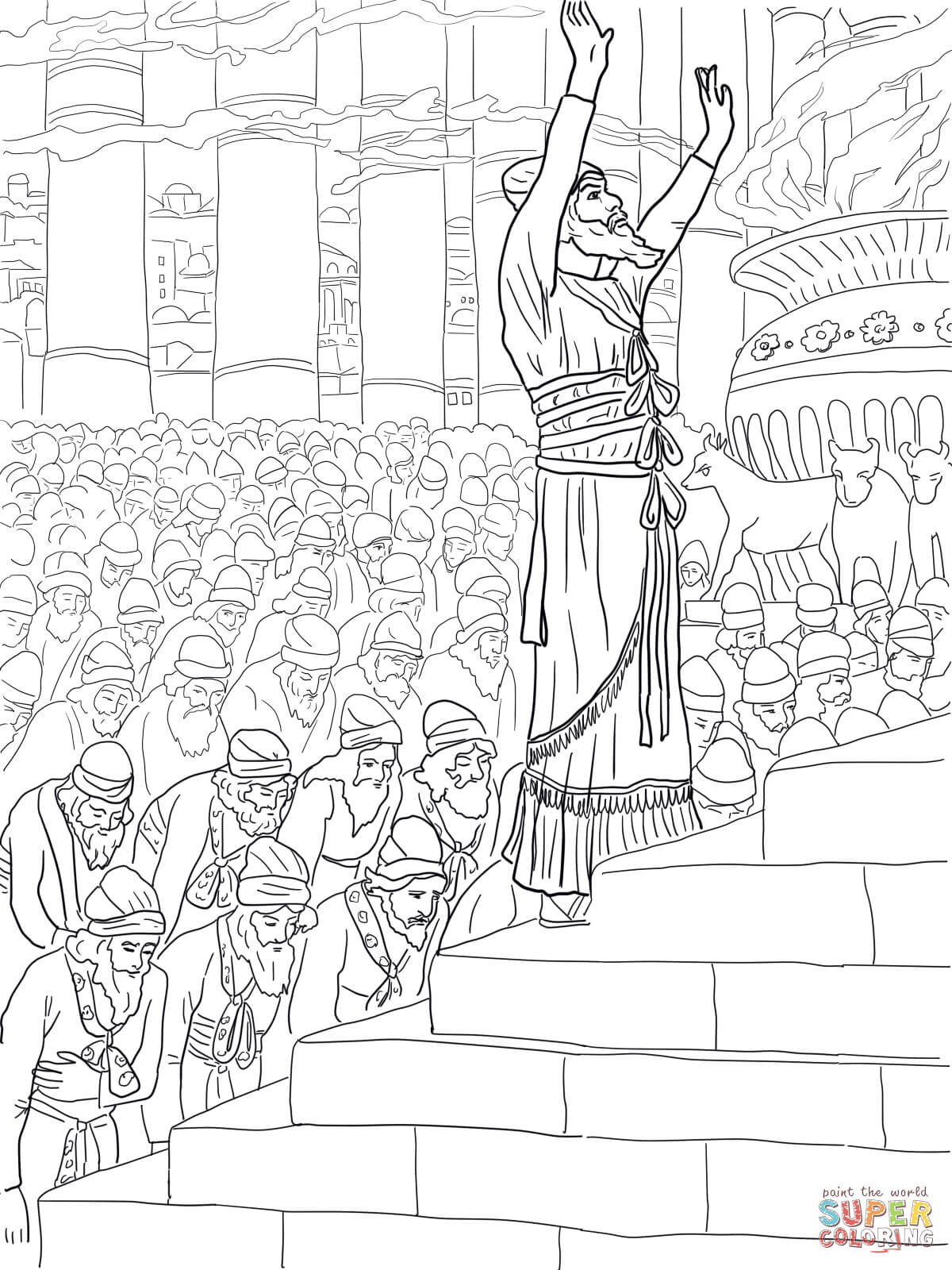 Queen Esther Coloring Page Sketch Coloring Page