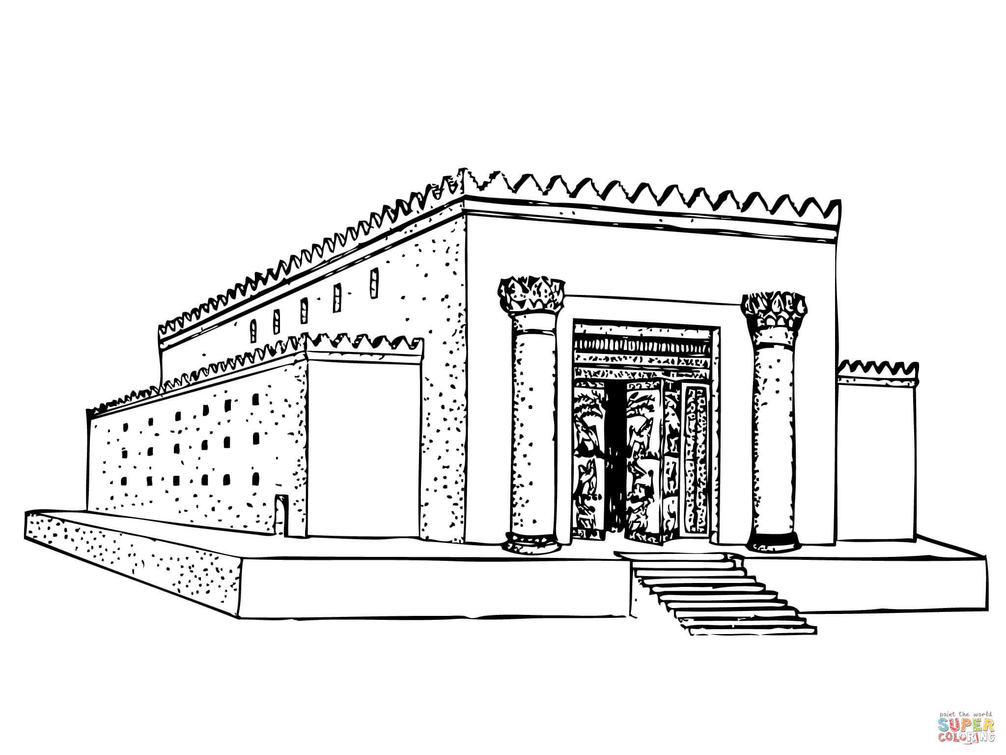 Https Post Haggai Rebuilding The Escort Under Hood Fuse Box Diagram 300x213 1997 Ford 9 Solomon Temple Coloring Page