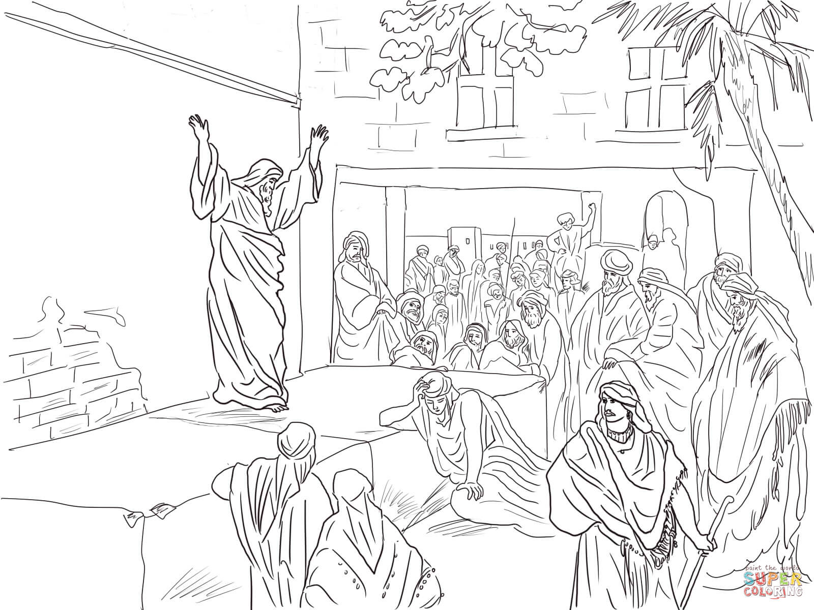 Prophet Micah Exhorts the Israelites to Repent coloring