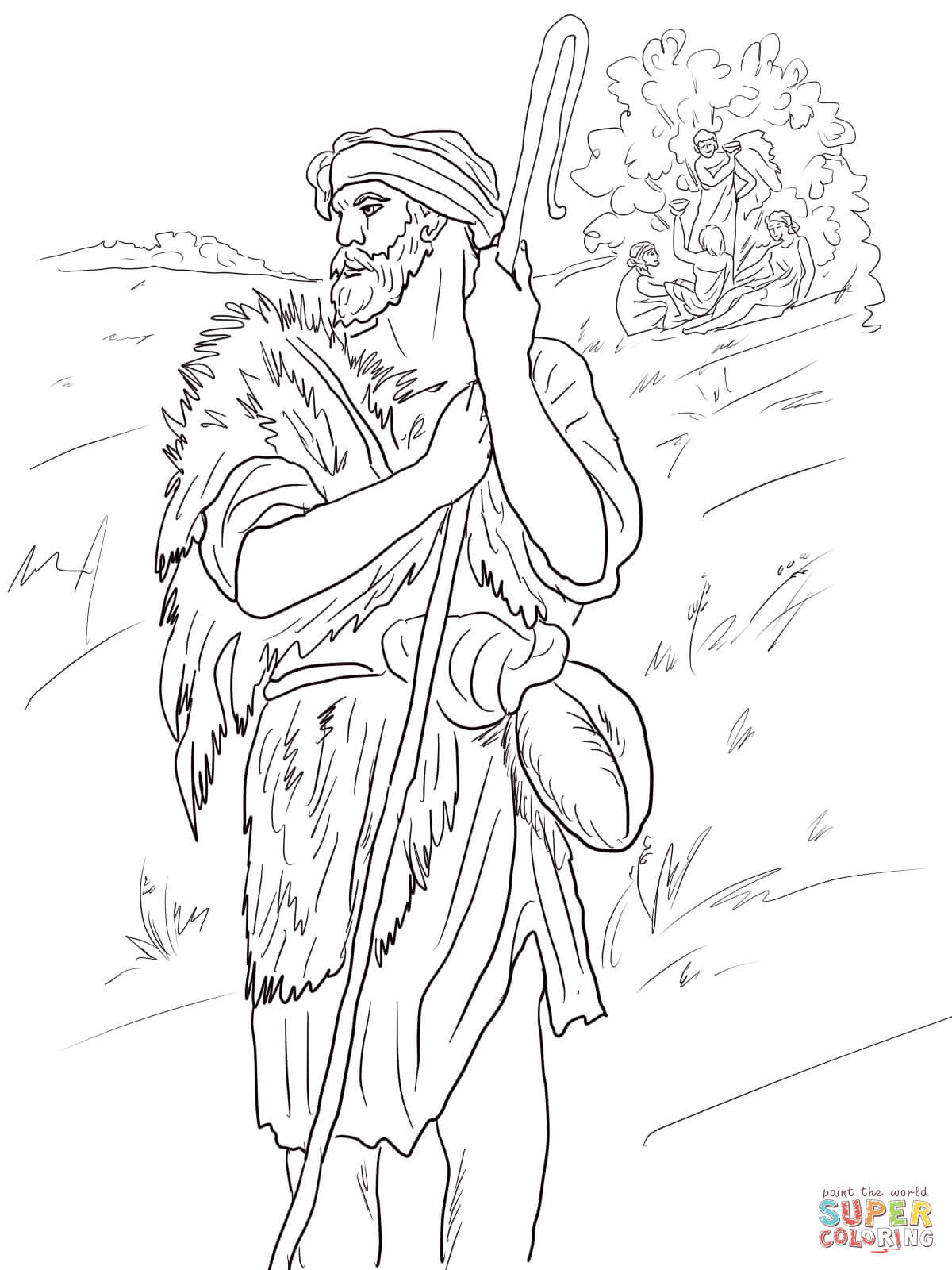 The Prophet Amos Coloring Page