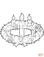 Advent Wreath   Free Coloring Pages