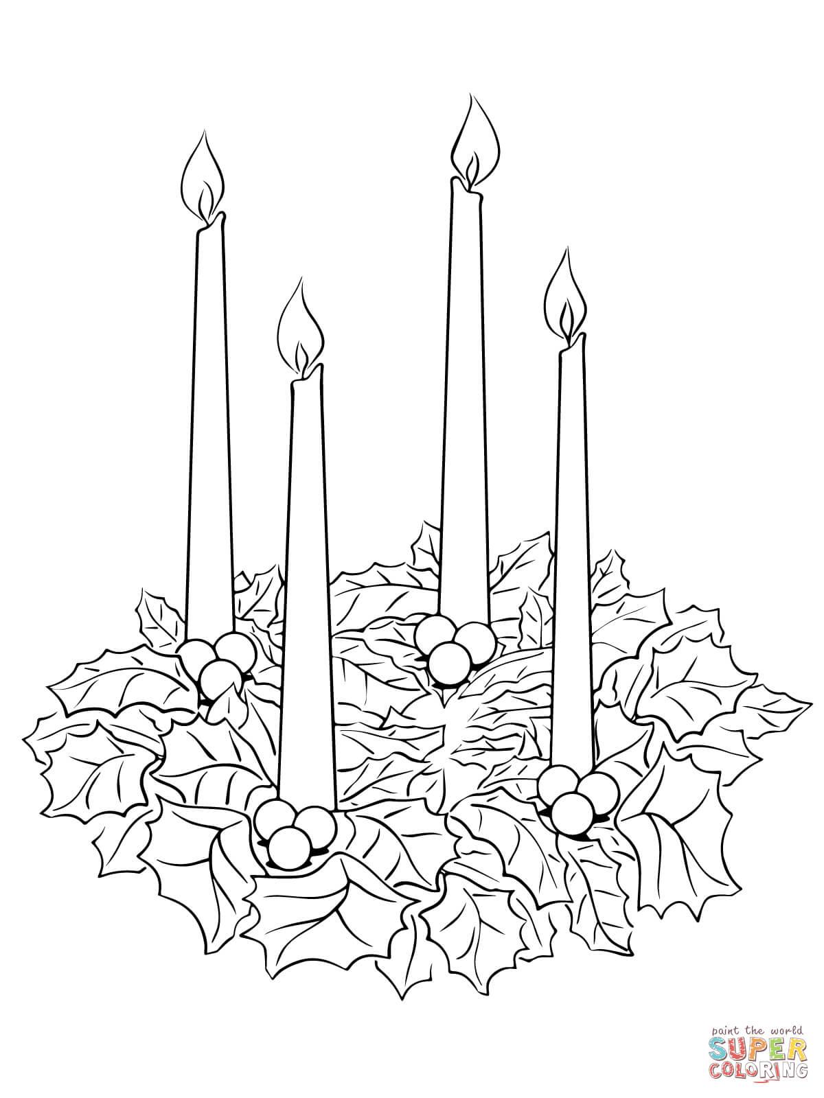 Malvorlagen Adventskranz ~ Malvorlagen-Galerie