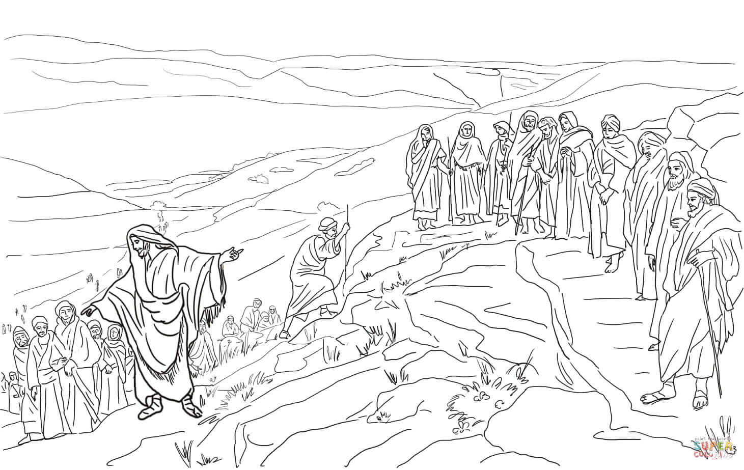 Bible 12 Disciples Coloring Pages Coloring Pages