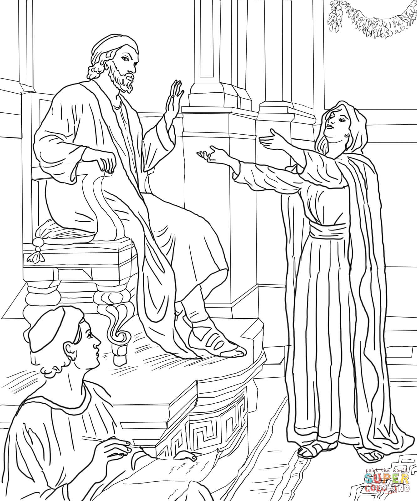 Parable Of The Persistent Widow Coloring Page