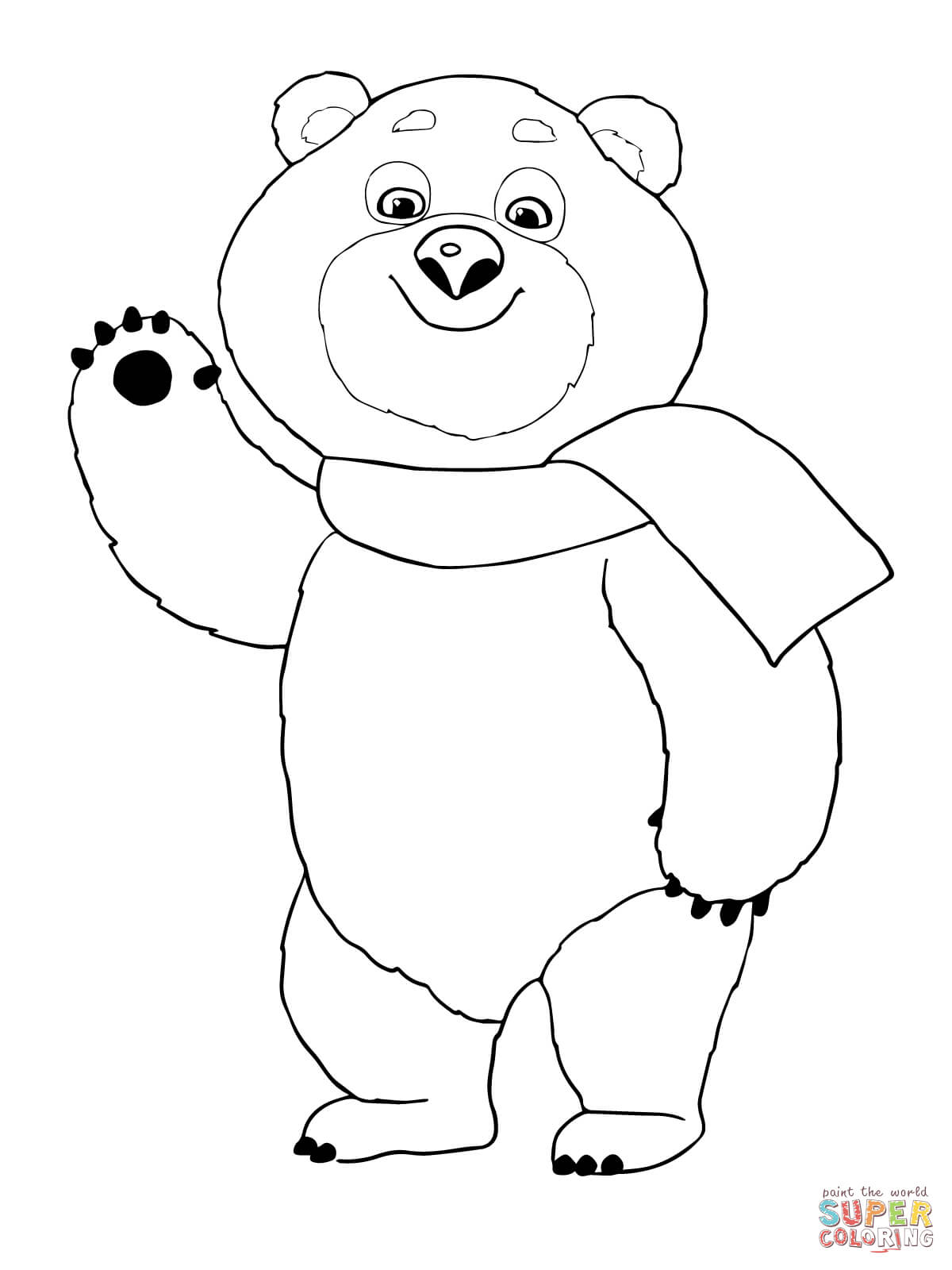 The Polar Bear Winter Olympic Mascot Coloring Page