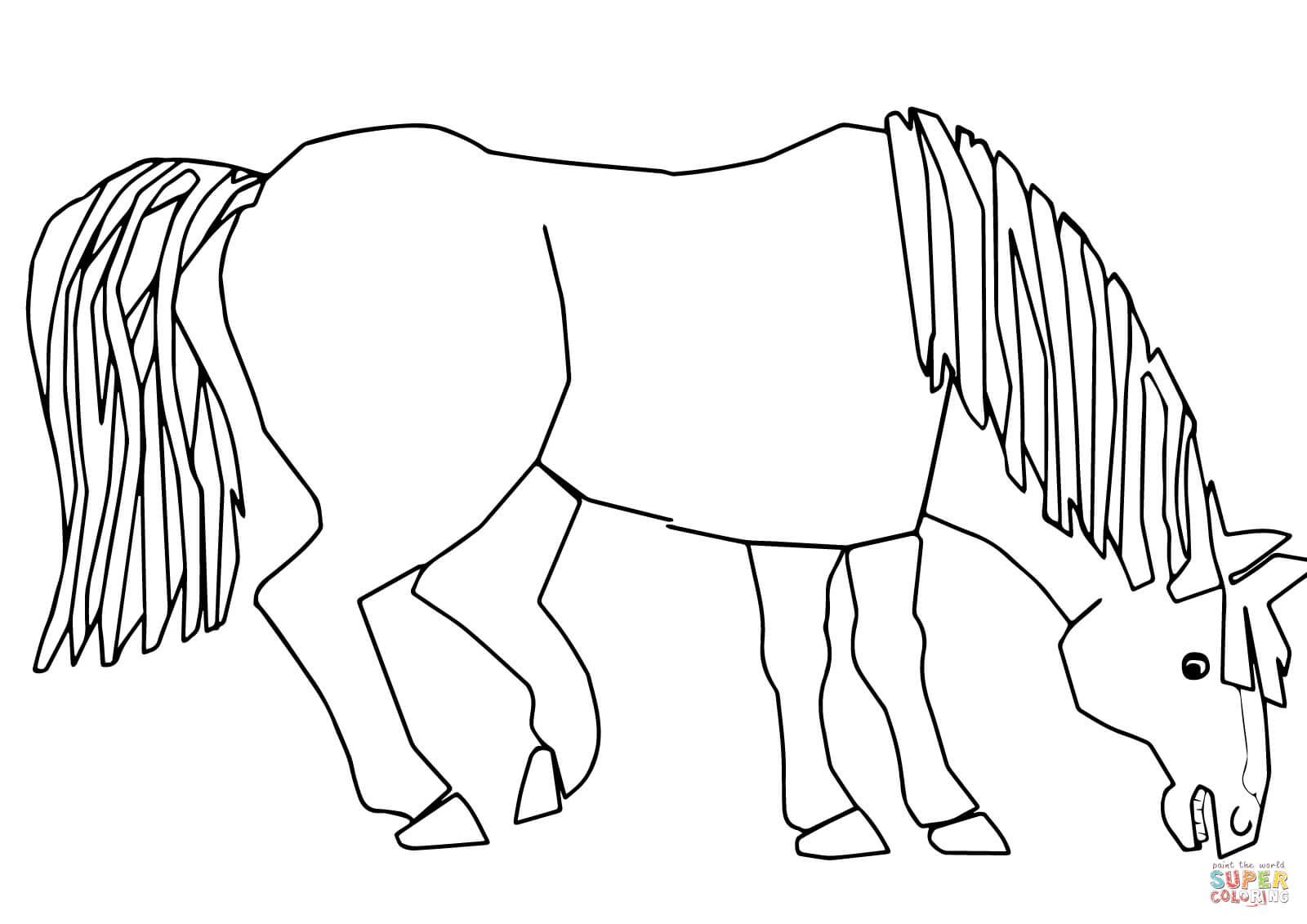 Printable Brown Bear What Do You See Blue Horse Sketch