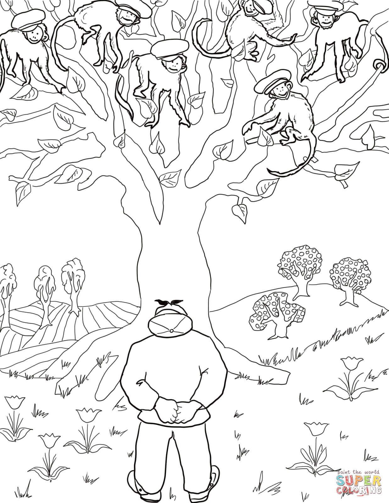 Three Little Monkeys Swinging In A Tree Five Little