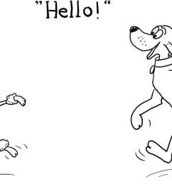 click the dog says hello coloring pages  [ 1600 x 886 Pixel ]