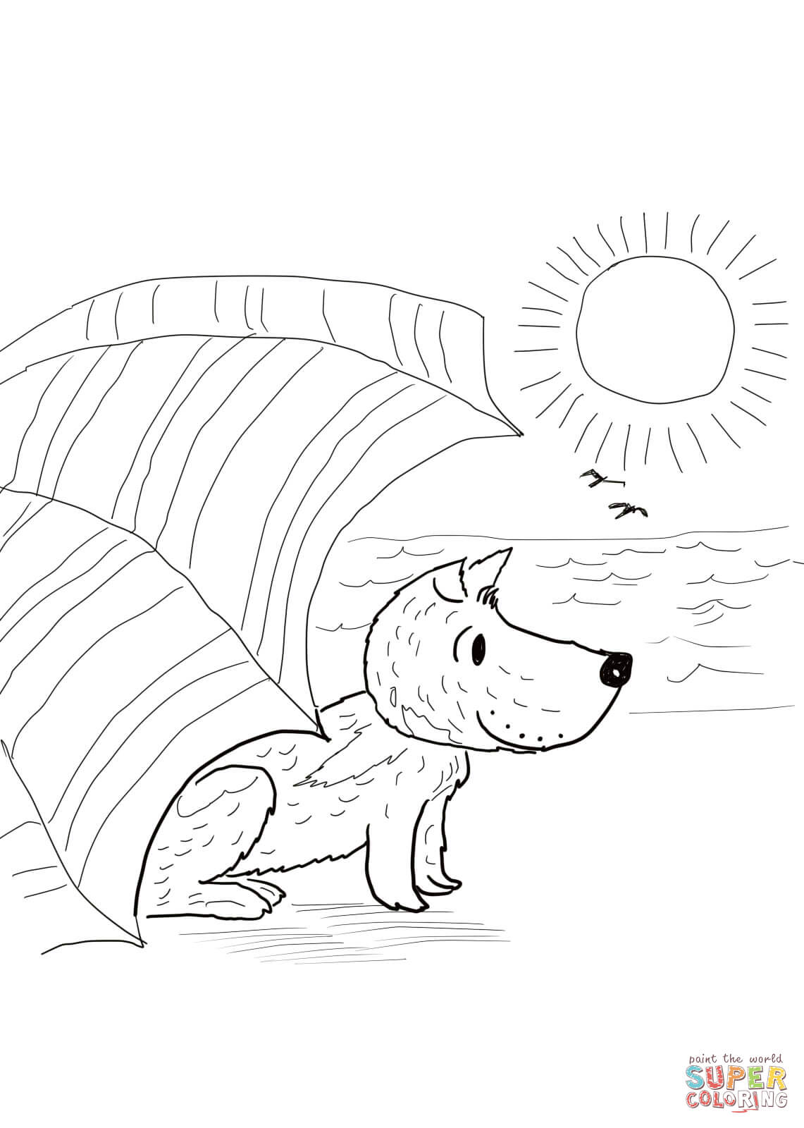 Harry By The Sea Coloring Page