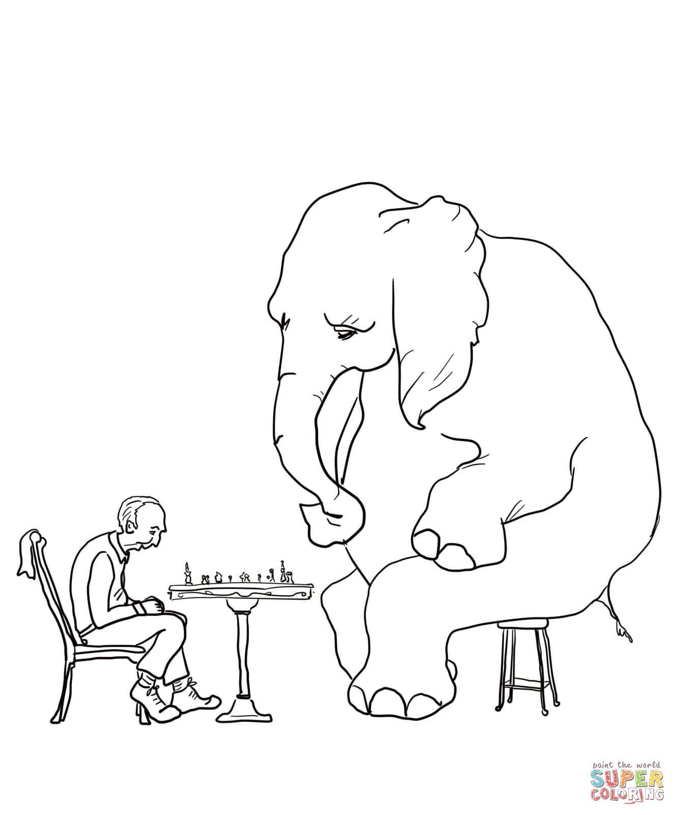 Mr Mcgee And The Elephant Coloring Page