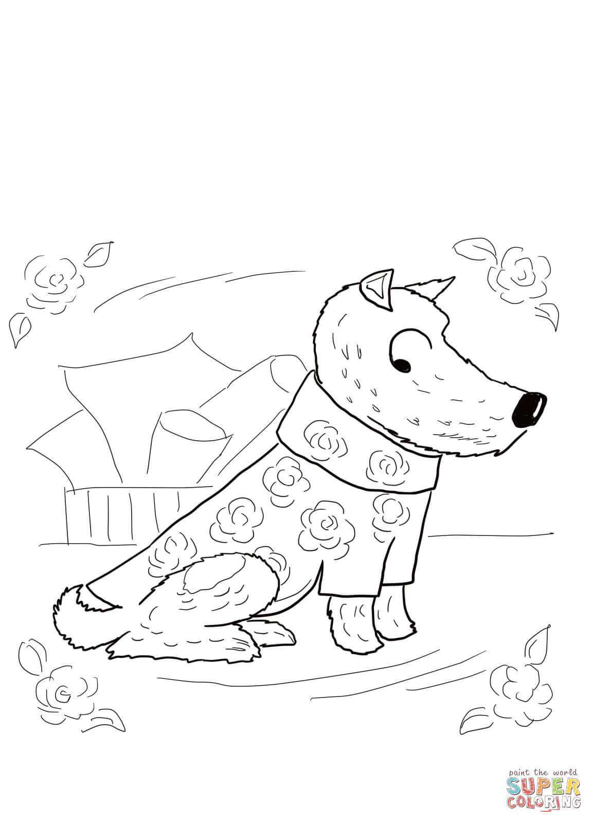No Roses For Harry Coloring Page
