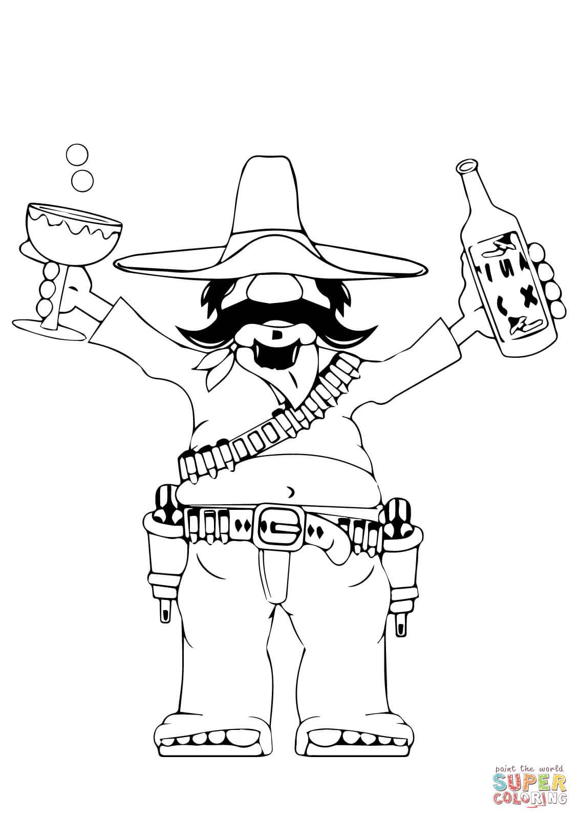 Happy Cinco De Mayo Coloring Page