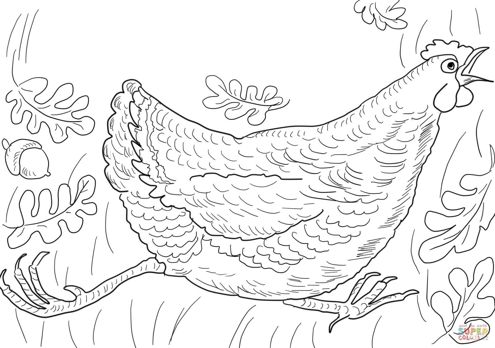 Henny Penny Is Screaming The Sky Is Falling Coloring Page