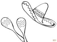 Sombrero Hat Coloring Page. Coloriage d8a463a4b68e