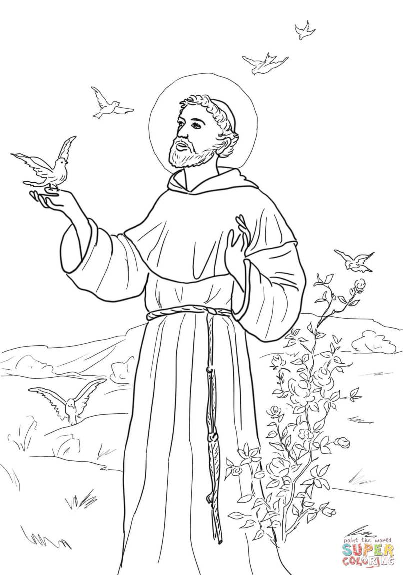 St Francis Coloring Page Prayer | Zeenla.co