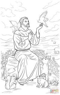Disegno di San Francesco d'Assisi da colorare | Disegni da ...