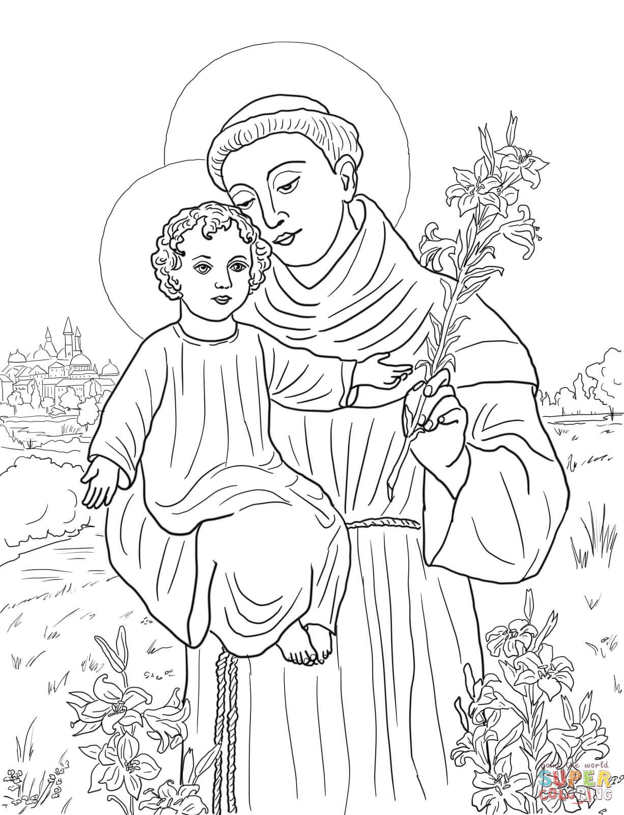 Ausmalbild Hl Antonius Von Padua