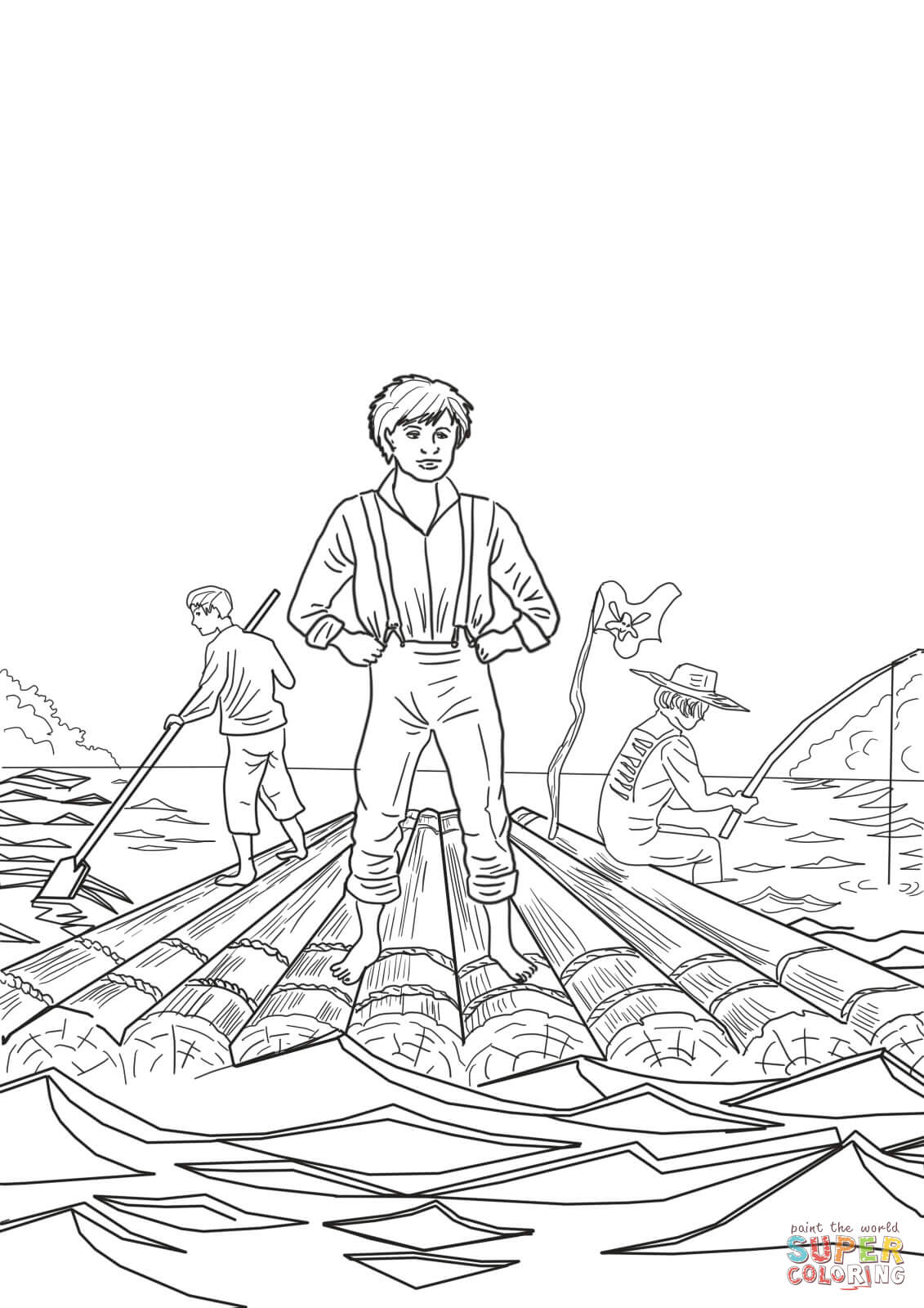 The Adventures Of Tom Sawyer Coloring Page