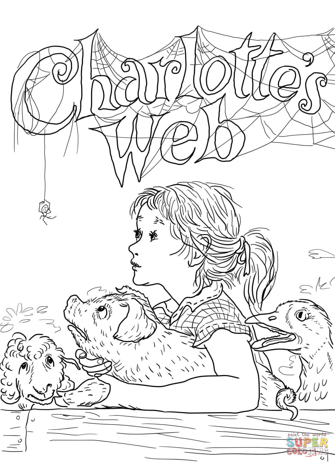 Charlotte S Web Coloring Page