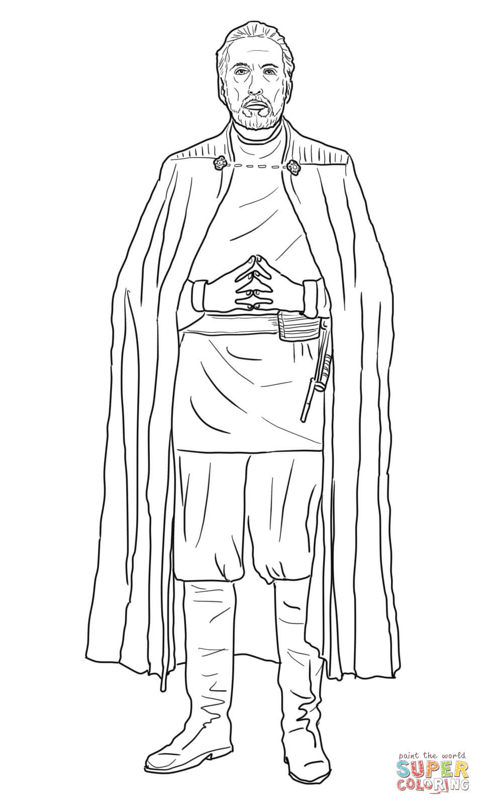 Lego Star Wars Count Dooku Coloring Pages Coloring Pages