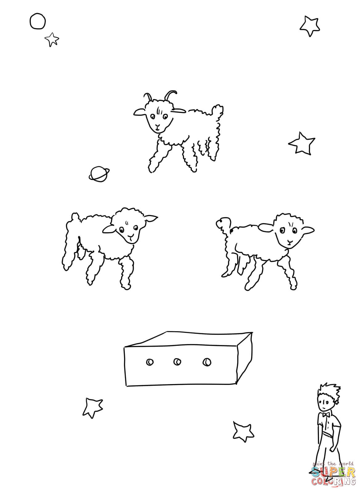 Draw Me A Sheep Coloring Page