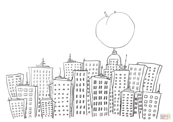 new york coloring pages # 6