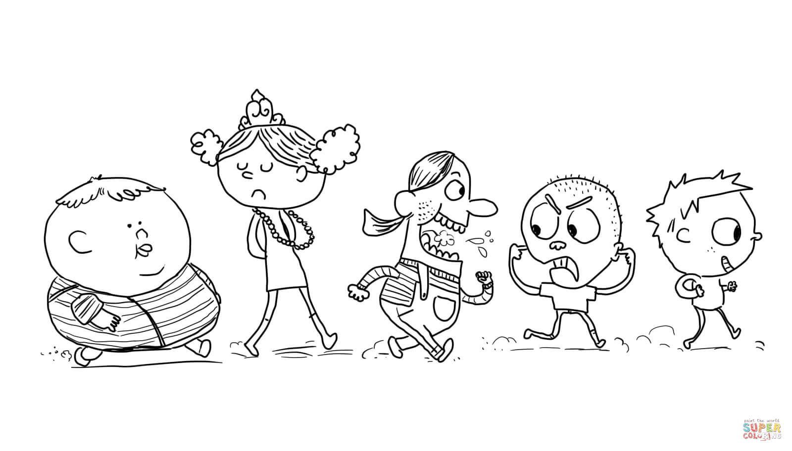 Disegno Di Bambini Willy Wonka Da Colorare
