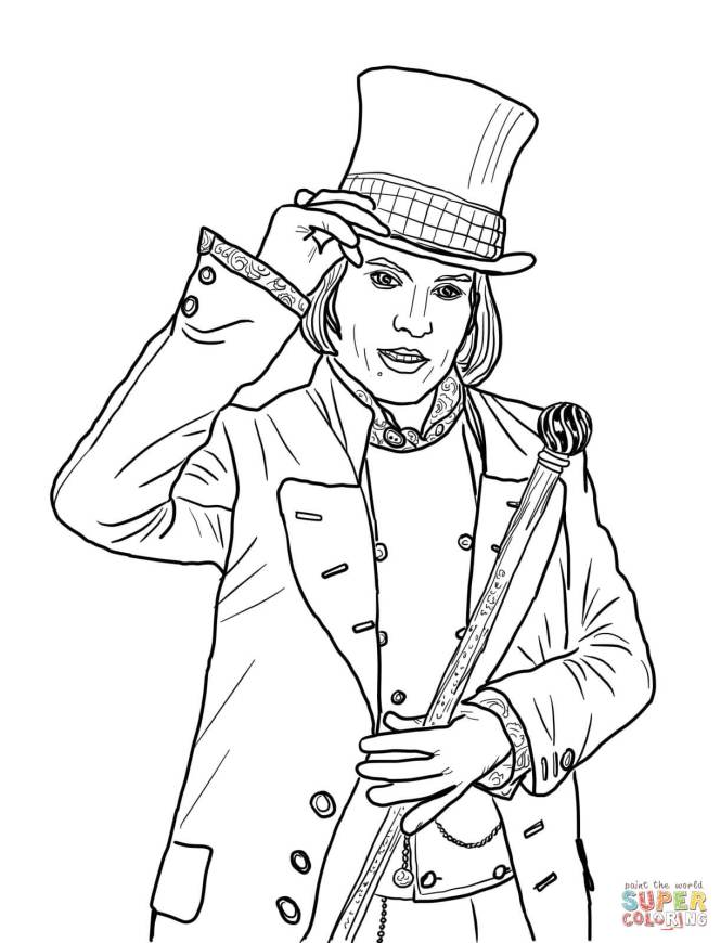 charlie and the chocolate factory coloring pages | Coloring Page for ...