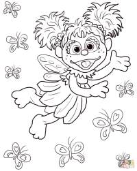 Abby Cadabby Flying with Butterflies coloring page | Free ...