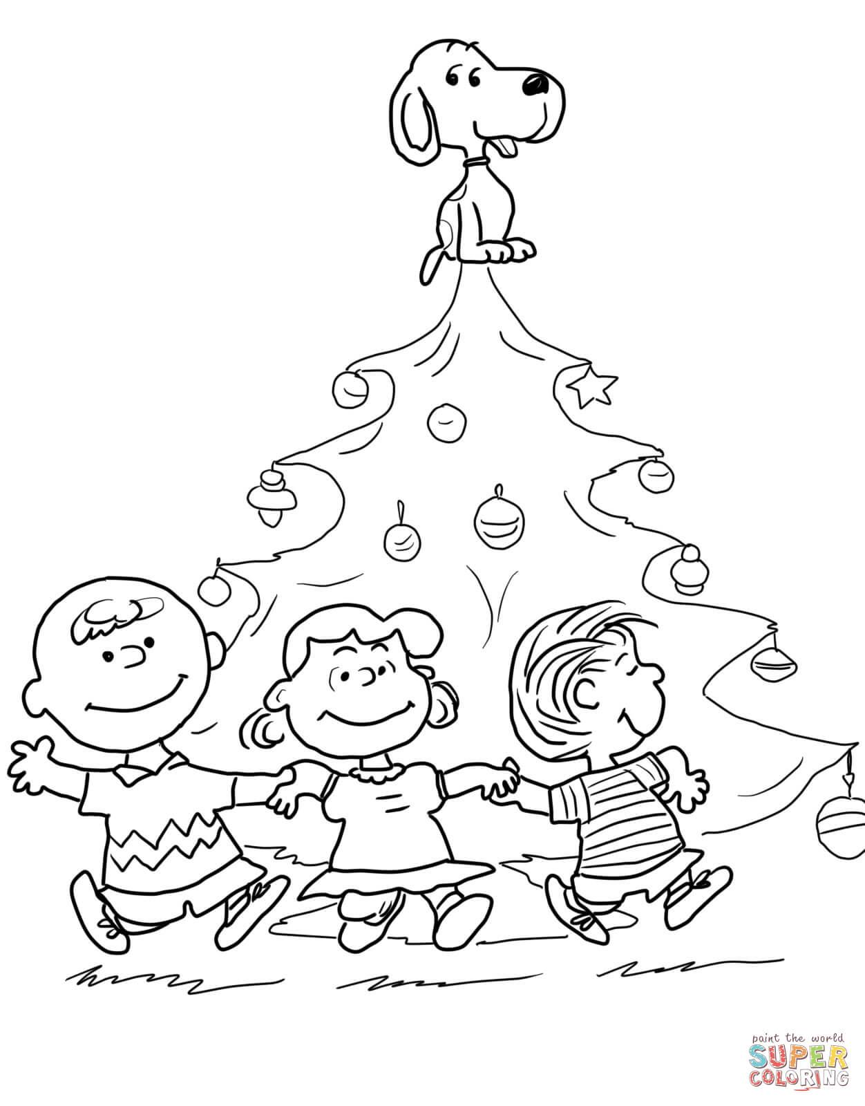 Charlie Brown Christmas Tree Coloring Page Free Printable