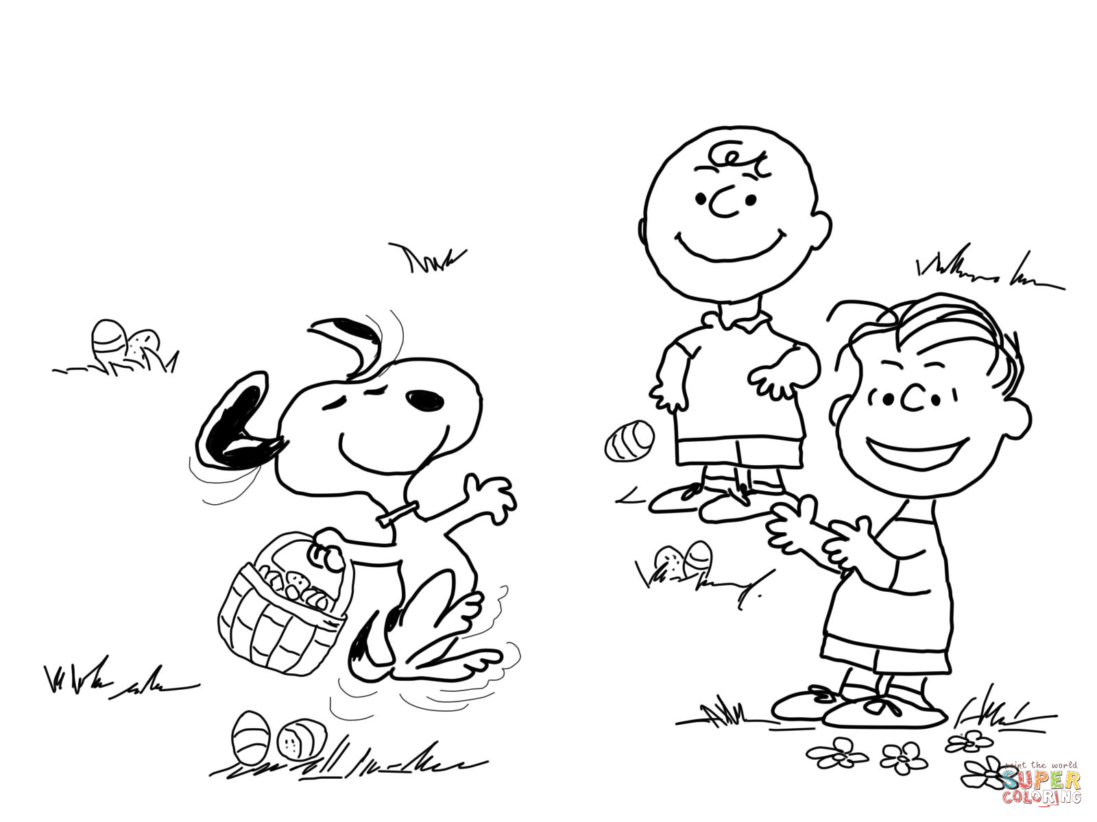 Charlie Brown Easter Coloring Page