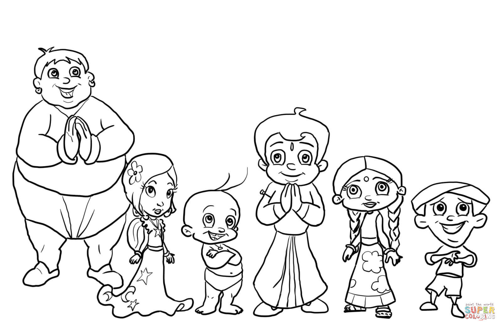 Chota Bheem Coloring Pages Sketch Coloring Page