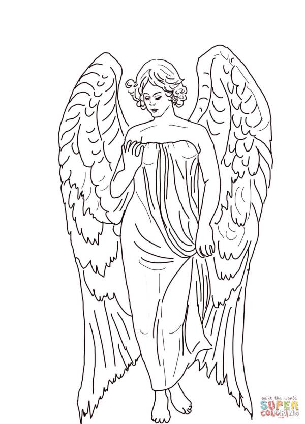 angels coloring pages # 3