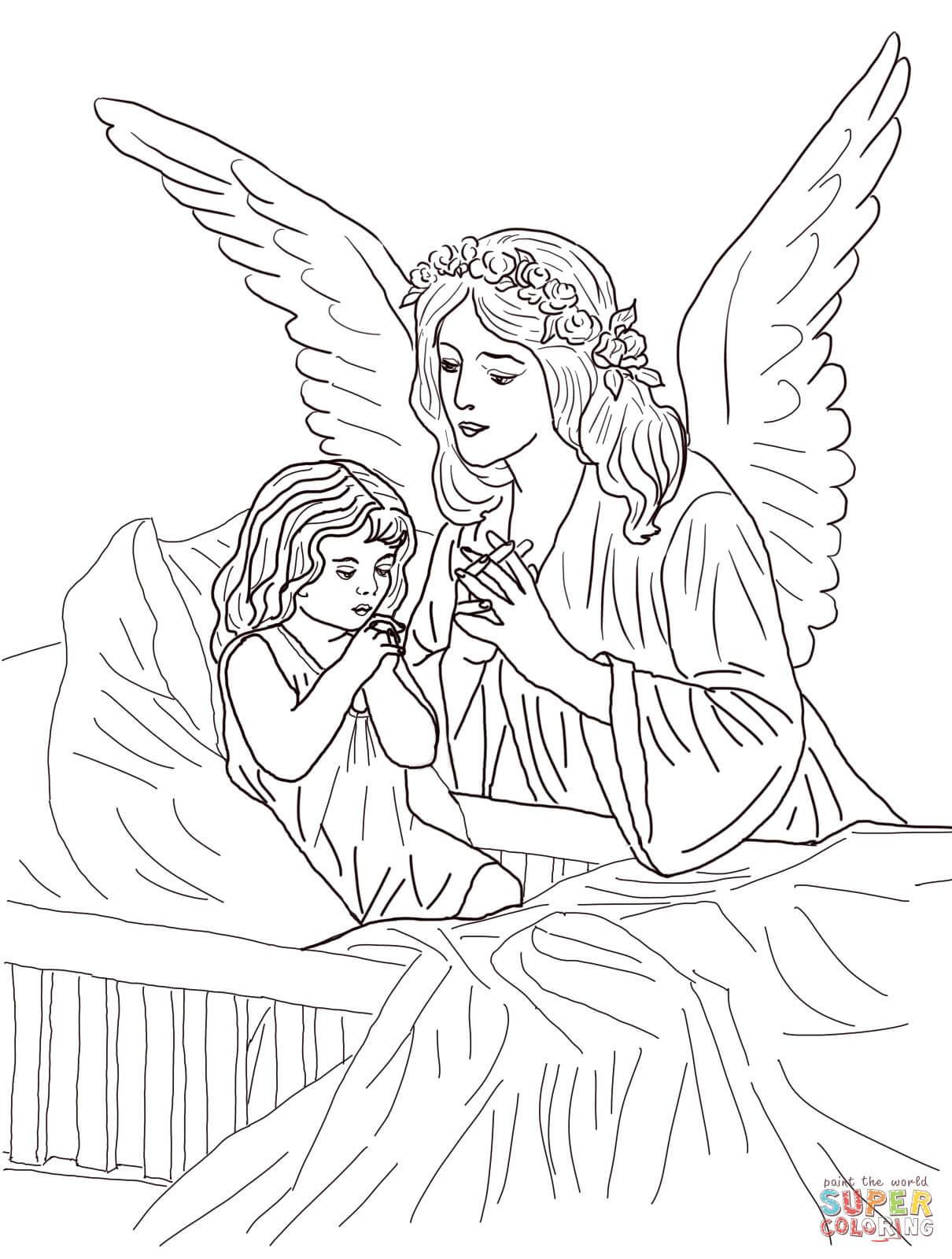 guardian angel prayers coloring