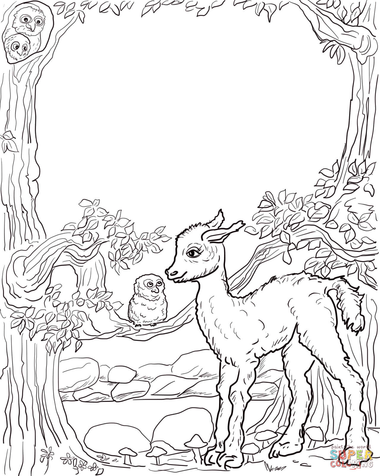 Is Your Mama A Llama Coloring Page