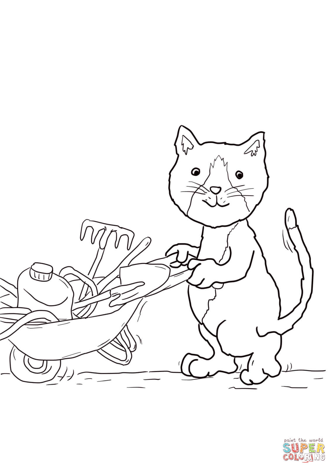 Jasper S Beanstalk Coloring Page