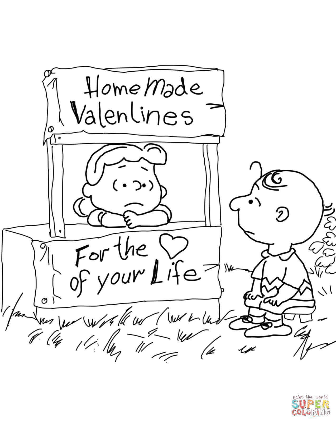 Peanuts Valentine S Day Coloring Page
