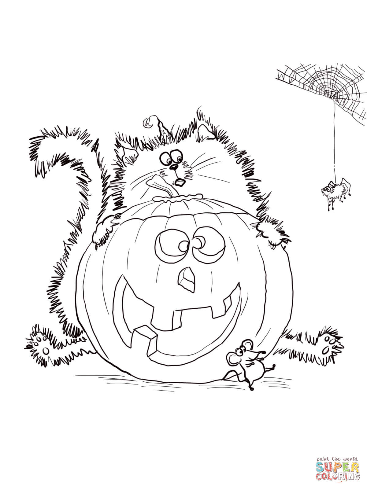 Scaredy Cat Splat Coloring Page