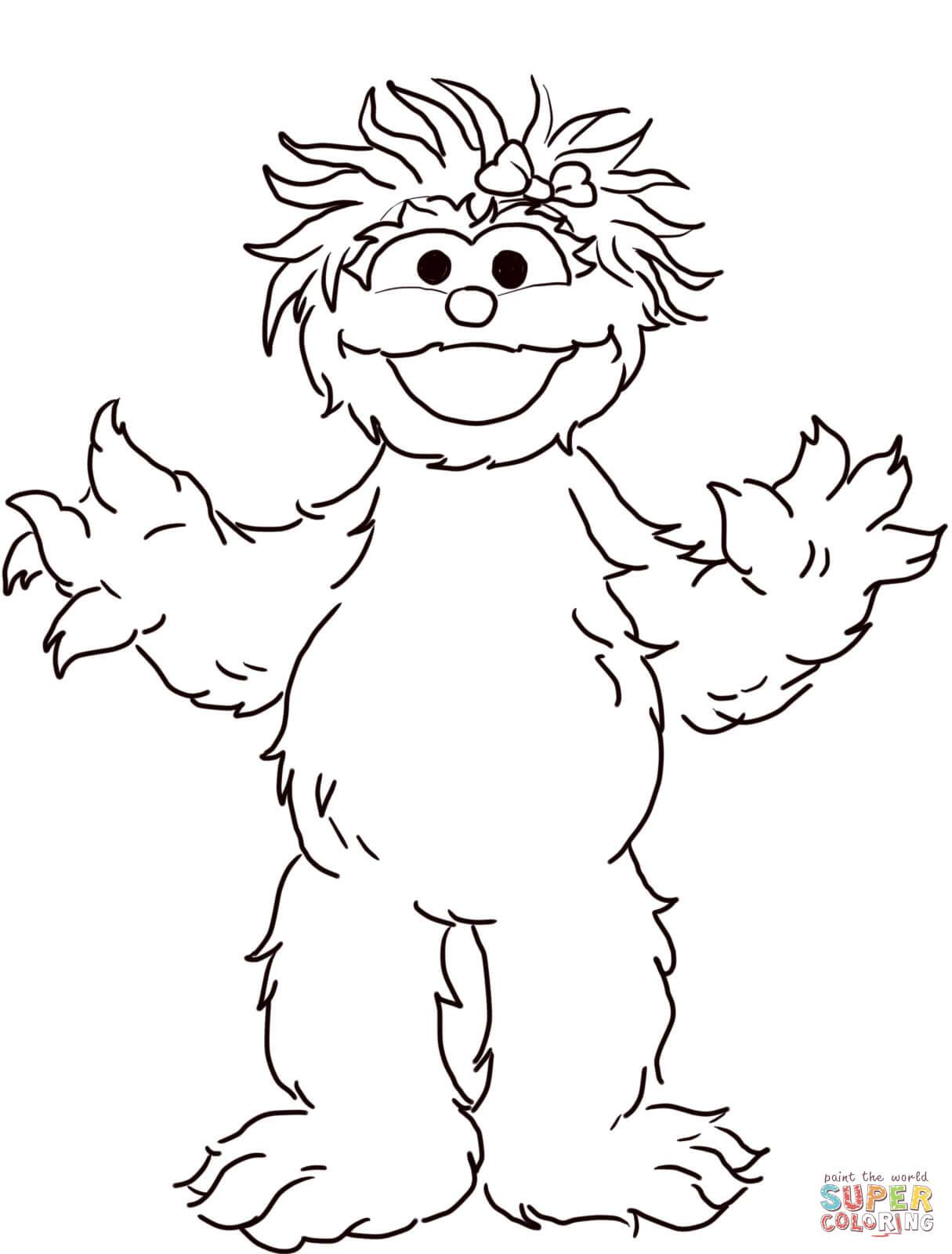 Sesame Street Rosita Coloring Page