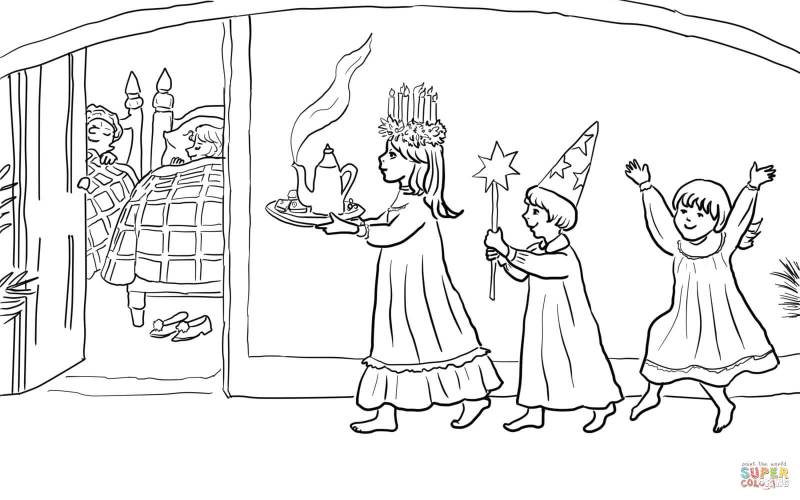 st lucia s day coloring page free printable pages