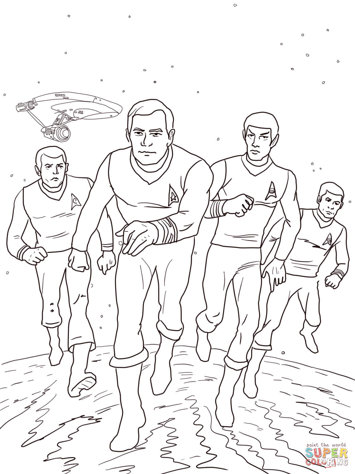Doctor Page Trek Coloring Star Who
